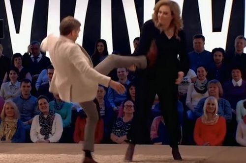 47-Летняя юлия ауг уложила на лопатки бориса корчевникова в шоу «судьба человека»
