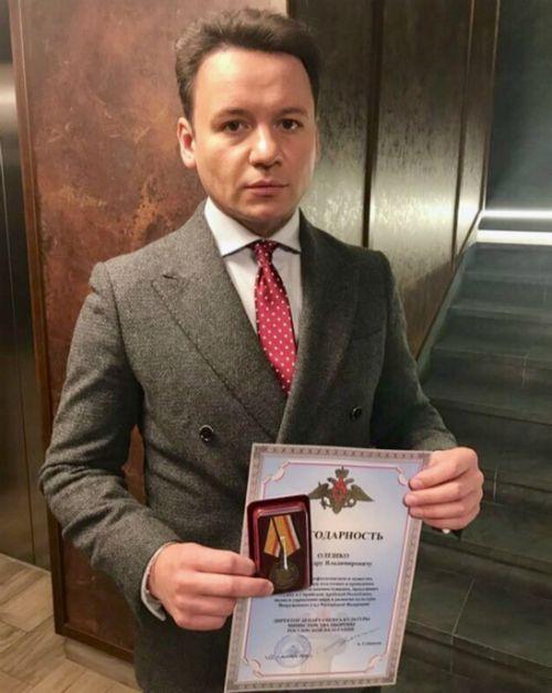 Александр олешко объяснил, за что ему вручили награду министерства обороны россии