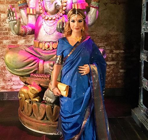 Беременная галина юдашкина оторвалась на вечеринке в индийском стиле