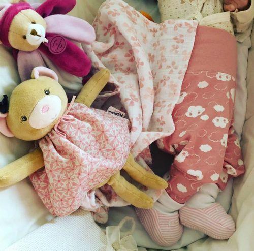 Юлия ковальчук показала спящую четырехмесячную дочь