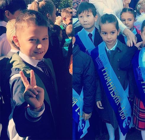 Ксения бородина отвела дочь в первый класс