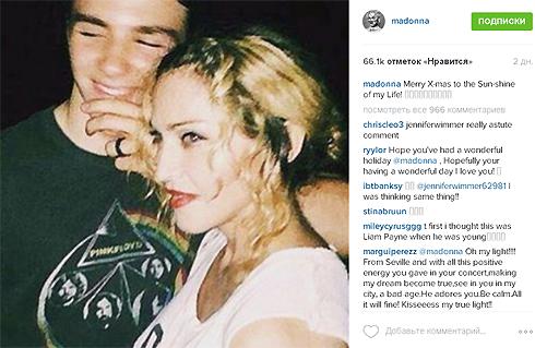 Мадонна отметила рождество без сына