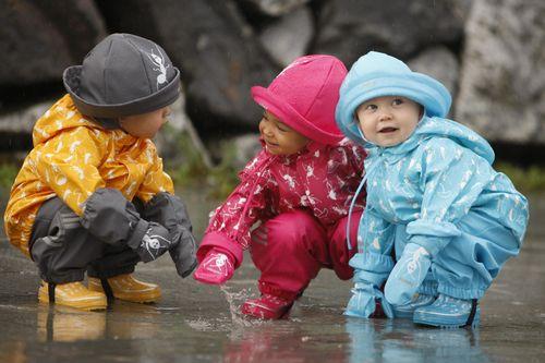 Модная детская одежда в сезон дождей