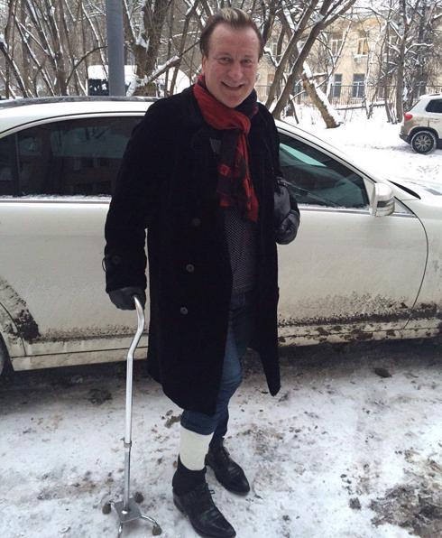Сергей пенкин сломал ногу по вине коммунальных служб