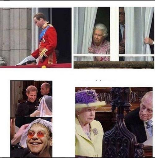 Со свадьбы принца гарри и меган маркл уже наделали фотожаб