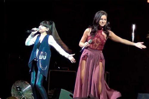 Участница шоу «голос. дети», 4 сезон, диана анкудинова спела дуэтом с нюшей в своем родном городе