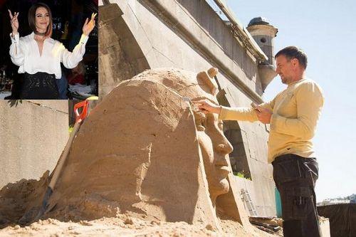 В санкт-петербурге ольгу бузову увековечили в песке