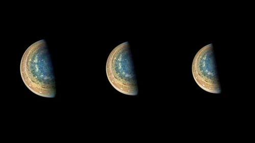 Зонд nasa juno сделал впечатляющие редкие снимки провала южного полюса юпитера